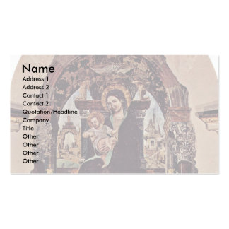 Madonna Fragment By Cossa Francesco Del Business Card