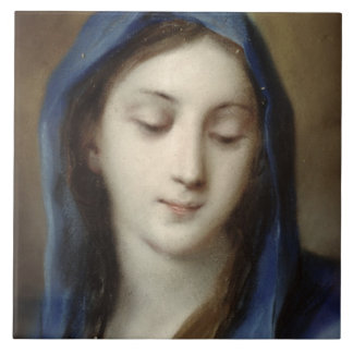 Madonna from the chapel (pastel on paper) tile