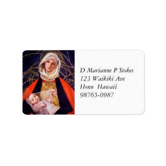 Madonna Holding Child Address Label