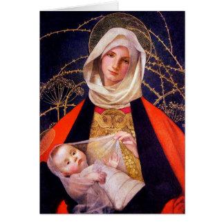 Madonna Holding Child Greeting Card