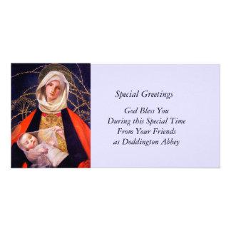 Madonna Holding Child Photo Greeting Card