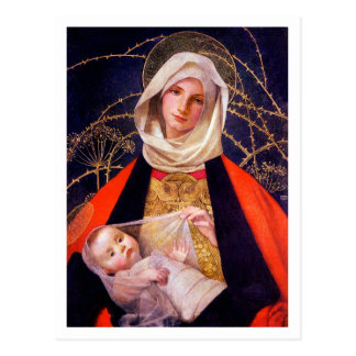 Madonna Holding Child Postcard