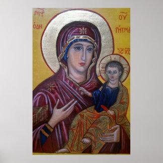 Madonna Icon Print