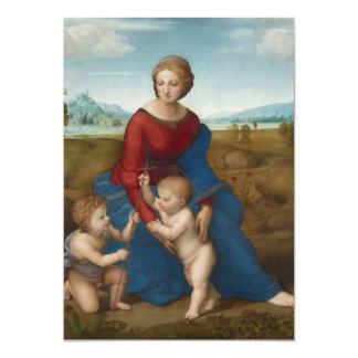 Madonna in Meadow Raphael 13 Cm X 18 Cm Invitation Card