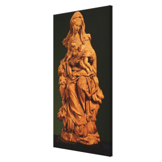 Madonna, Jesus and St. John the Baptist Canvas Print