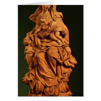 Madonna, Jesus and St. John the Baptist Card