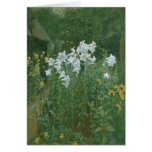 Madonna Lilies in a Garden Greeting Card