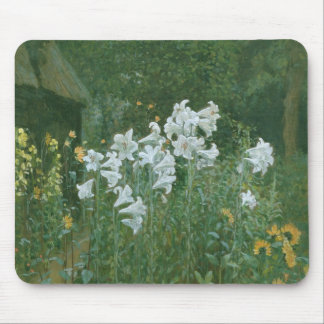 Madonna Lilies in a Garden Mouse Mat