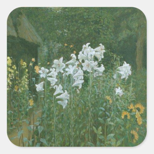 Madonna Lilies in a Garden Sticker