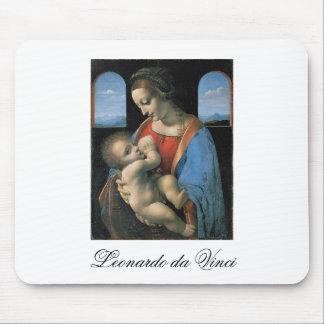 Madonna Litta by Leonardo Da Vinci c. 1490-1491 Mouse Pad