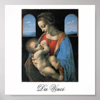 Madonna Litta by Leonardo Da Vinci c. 1490-1491 Poster
