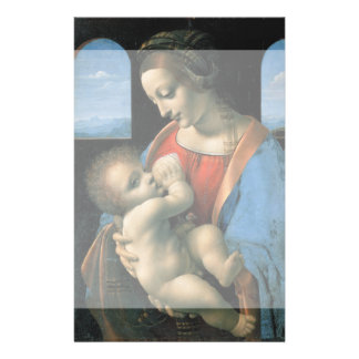 Madonna Litta by Leonardo da Vinci Flyer Design