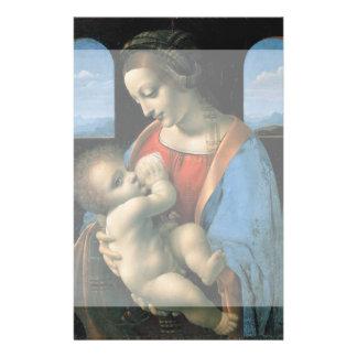 Madonna Litta by Leonardo da Vinci Custom Flyer