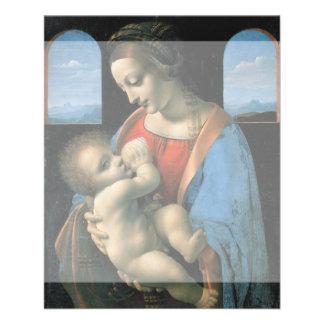 Madonna Litta by Leonardo da Vinci Full Color Flyer