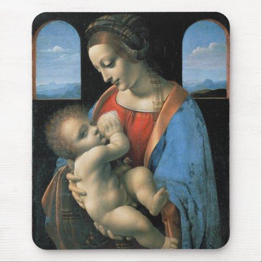 Madonna Litta by Leonardo da Vinci Mousepad