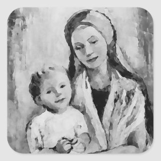 Madonna - Mary and Child - faith stickers