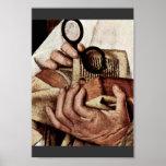 Madonna Of Canon George Van Der Paele Details: Bib Print