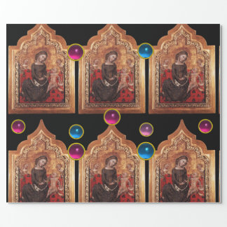 MADONNA OF HUMILITY Colorful Gemstones Chrıstmas Wrapping Paper