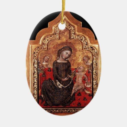 MADONNA OF HUMILITY CHRISTMAS TREE ORNAMENTS