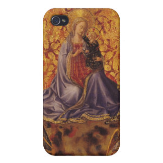Madonna of Humility with Christ Child and Angels Case For iPhone 4