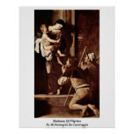 Madonna Of Pilgrims By Michelangelo Da Caravaggio Posters