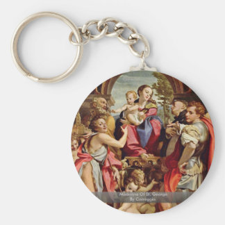 Madonna Of St. George By Correggio Keychains