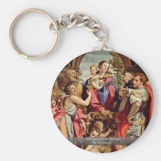 Madonna Of St. George By Correggio Keychains