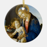 Madonna of the Book by Botticelli Christmas Ornaments