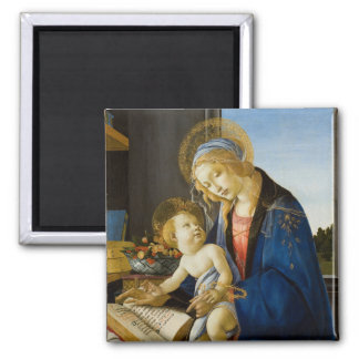 Madonna of the Book by Botticelli Magnets