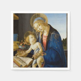 Madonna of the Book by Botticelli Paper Serviettes