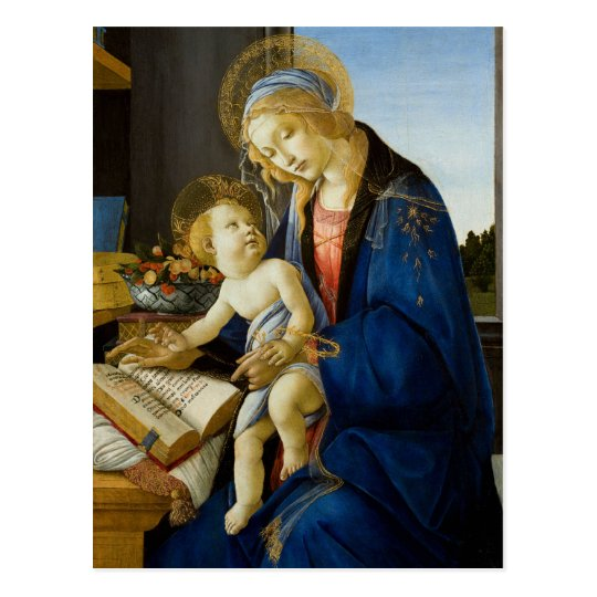 Madonna of the Book by Botticelli Postcard