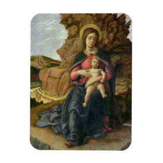 Madonna of the Cave, 1488-90 (tempera on panel) Rectangular Photo Magnet