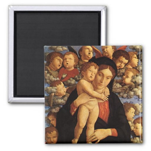 Madonna of the Cherubim by Andrea Mantegna Fridge Magnets