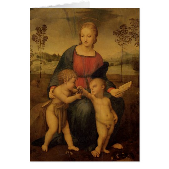Madonna of the Goldfinch, c.1506 Card