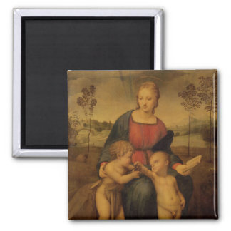 Madonna of the Goldfinch, c.1506 Square Magnet