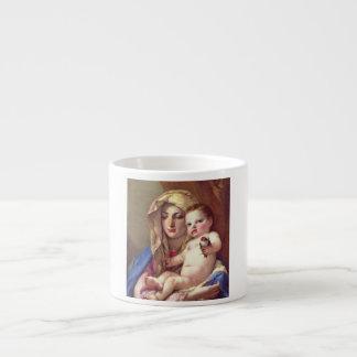 Madonna of the Goldfinch Espresso Mugs