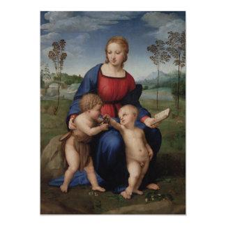 Madonna of the Goldfinch Raphael 13 Cm X 18 Cm Invitation Card