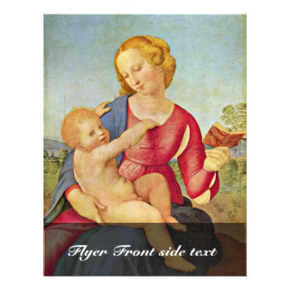 Madonna Of The House Of Colonna By Raffael Full Color Flyer