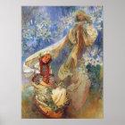 Madonna of the Lilies, Alphonse Mucha Art Poster