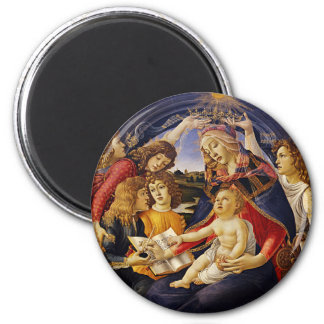 Madonna of the Magnificat by Botticelli 6 Cm Round Magnet