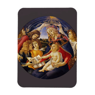 Madonna of the Magnificat by Botticelli Vinyl Magnet