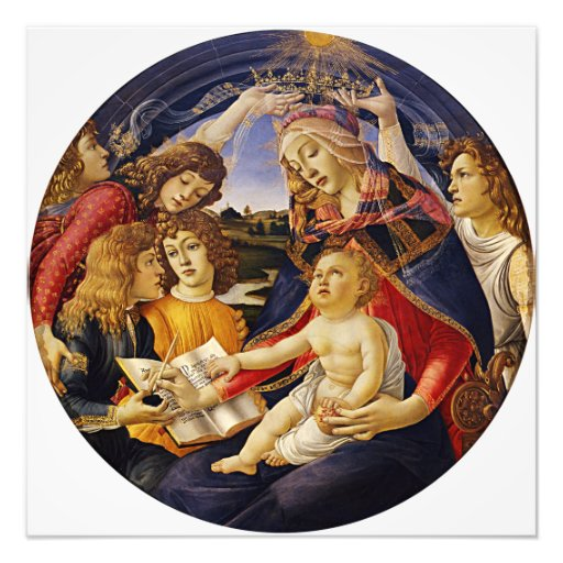Madonna of the Magnificat by Botticelli Photographic Print