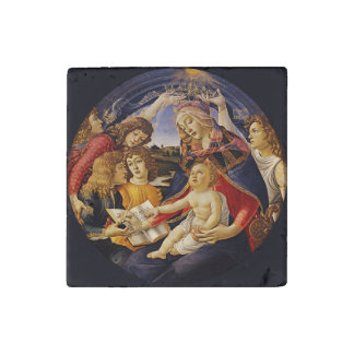 Madonna of the Magnificat by Botticelli Stone Magnet