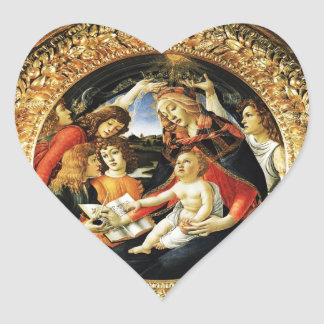 Madonna of the Magnificat Heart Stickers