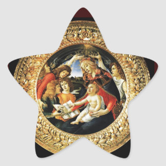 Madonna of the Magnificat Star Stickers