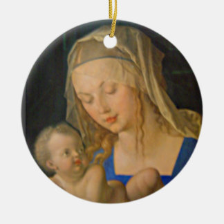 Madonna of the Pear Christmas Ornament