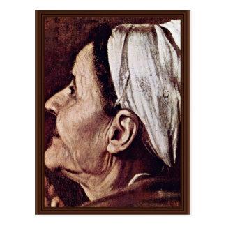 Madonna Of The Pilgrims  By Michelangelo Merisi Postcard