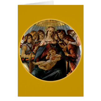 Madonna of the Pomegranate - Botticelli Card