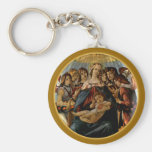 Madonna of the Pomegranate - Botticelli Keychains