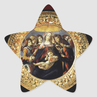 Madonna of the Pomegranate Star Stickers
